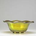 Steuben gold aurene bowl early 20th c etched steuben 12 x 4 58