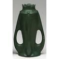 Radford radura fourhandled vase in matte green marked 10 14 tall