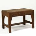 Limbert twodrawer library table with inset top branded mark overcoated 2912 x 42 x 28