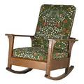 L  jg stickley open arm morris rocker with dropin seat and loose back work of metal tag 36 x 29 12 x 36