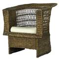 Gustav stickley willow armchair with loose seat cushion unmarked 35 12 x 31 12 x 32