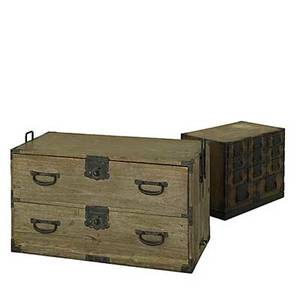 Asian furniture two campaign style multidrawer cabinets chinese 19th c 16 x 36 x 20