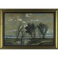 After corot watercolor on paper framed signed corot 21 34 x 33 58 sight