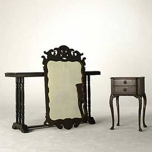 Traditional furniture mahogany library table chippendale mirror and end table 1940 library table 30 12 x 53 12 x 18
