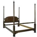 Four poster bed mahogany with fluted columns queen size 20th c 77 x 64 x 89 external dimension