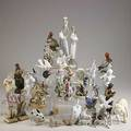 Lladro bg etc box lot of approx 40 figurines 2 lladro farm girls three piece angel chorus bg seagull and bulldog etc tallest 12