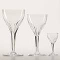 Crystal stemware approx 35 pieces 20th c 10 val st lambert 7 wine glasses in the elegance pattern 12 6 14 wine glasses 12 cordial glasses and 1 7 14 wine glass