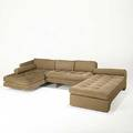 Vladimir kagan directional upholstered omnibus threepiece sectional sofa on lucite legs unmarked overall 29 x 118 x 73