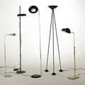 Koch  lowy raymor etc five floor lamps halogen and incandescent tallest 73 x 19 dia