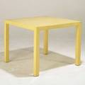 Modern faux parchment enameled card table unmarked 29 x 34 sq