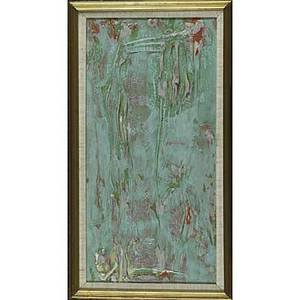 Two american abstract paintings walter darby bannard alkyd resin on canvas natural christmas 1972 framed signed dated and titled 24 x 12 provenance lawrence rubin gallery new york sid