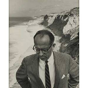 Philippe halsman american 19061979 gelatin silver print untitled portrait of jonas salk 1962 artist copyright stamp inscribed for jonas salk 14 x 11 sheet