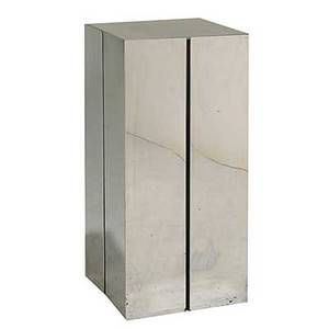 George kovacs stainless steel and glass illuminated pedestal unmarked 30 x 14 sq