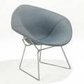 Harry bertoia knoll chromed steel and wool diamond chair fabric label 31 x 34 x 30