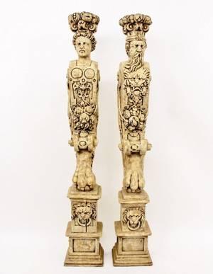 Pair of Figural Pedestals
