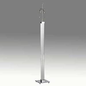 Karl springer chromed steel and acrylic floor lamp unmarked 58 x 9 sq