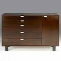 George nelson herman miller mahogany and zinc dresser unmarked 40 x 56 x 19 12