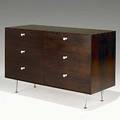 George nelson herman miller rosewood porcelain and aluminum thin edge dresser unmarked 31 x 46 34 x 19 12
