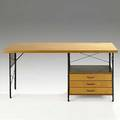 Charles and ray eames herman miller birch plywood masonite panels and zinc plated steel esu desk model d20n 1950s from the first year of production with hollowcore top 60 x 24 12 x 29