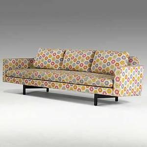 Edward wormley dunbar wool upholstered sofa on mahogany legs unmarked 91 x 30 x 36