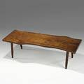 George nakashima american black walnut coffee table 1960s unmarked 16 12 x 56 x 21