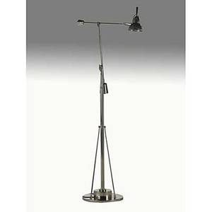 French modern nickelplated brass and chromed steel counter balance floor lamp 1970s unmarked as pictured 60 x 36 x 14 12