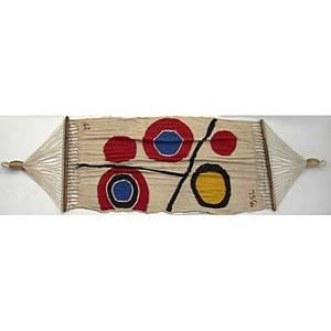 After alexander calder bonart cotton hammock floating circles 1975 cloth label ac 75 27100 132 x 60
