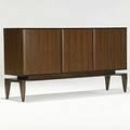 Gio ponti singer  sons italian walnut threedoor cabinet italy unmarked 37 12 x 71 x 17 12