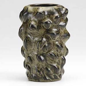 Axel salto royal copenhagen glazed stoneware budding vase green stamp royal copenhagen denmark 3 lines etched salto 20701 7 12 x 5 14