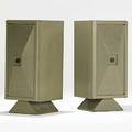 James mont pair of painted and fumed cabinets with bronze pulls 1950s unmarked 36 x 16 x 19