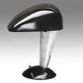 Walter dorwin teague polaroid corp bakelite and zincplated metal desk lamp model 114 1939 paper label 12 34 x 11 12 x 9 34
