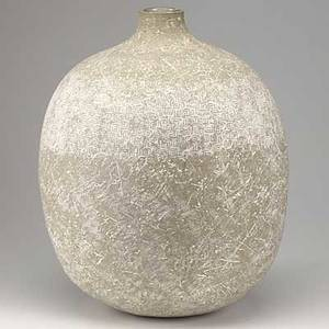 Claude conover glazed ceramic vessel teul complete with plastic liner signed and titled 19 34 x 14 12