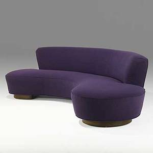 Vladimir kagan vladimir kagan designs inc upholstery and walnut sofa model 150 bc late 1960s unmarked 30 x 118 x 38
