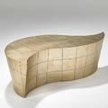 Vladimir kagan vladimir kagan designs inc gilt and shaped wood custom bilbao coffee table 1990s unmarked 18 14 x 54 12 x 28