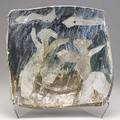 Peter voulkos glazed figural stoneware platter ca 1956 provenance collection of david r campbell former designer and director of the museum of contemporary crafts nyc signed 3 x 14 12 sq