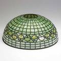 Tiffany studios leaded glass lampshade in acorn pattern stamped tiffany studios new york 1435143 6 12 x 15 12