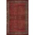 Northwest persian roomsize rug in cherry red cloth label 18 x 124