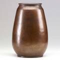 Dirk van erp hammered copper oval vase windmill stamp 10 12 x 6