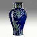 Harriet joor newcomb college exceptional tall and early jar slipdecorated with palm fronds ca 1905 nchjjmu 16 x 8 12