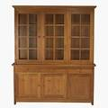 Contemporary stickley cherry sideboard with matching hutch top stickley metal tag 82 x 68 12 x 18
