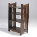Contemporary stickley magazine stand in the style of gustav stickley metal tag 42 x 25 x 15
