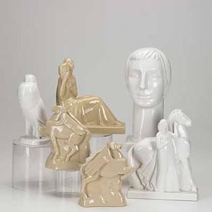 Devegh lamberton six porcelain figures 20th c tallest 6 12