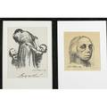 Kathe kollwitz german18671945 two offset lithographs with figurative subjects framed one pencil signed each 14 12 x 11 sight