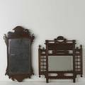 Mirror grouping chippendale style together with victorian hall mirror with hooks 18th19th c victorian 29 12 x 28 x 5
