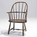 Country winsor armchair mixed woods as is condition early 19th c 36 x 25 x 25