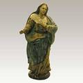 Italian carved wood and gesso crche figure of the virgin mary 22