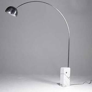 Achille and pier giacomo castiglioni flos arco floor lamp unmarked 98 12 x 13 x 78 12