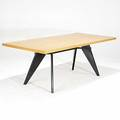 Jean prouve vitra enameled steel oak and birch laminate standard dining table 2002 unmarked table 28 12 x 79 x 35 12