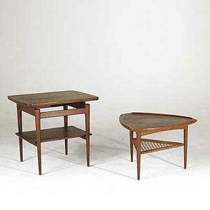Jens risom teak table together with danish side table jens risom label jens risom 24 x 27 x 21