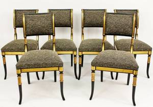 Set of Six Belloni Italian Side Chairs